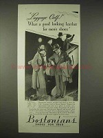 1935 Bostonians Shoes Ad - Luggage Calf