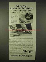 1935 Bayer Aspirin Ad - Show Actual Photographs