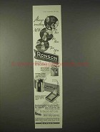 1935 Ronson Cigarette Lighter Ad - Tuxedo, Superpact