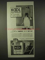 1935 Kool Cigarettes Ad - Like a Shower on Hot Day