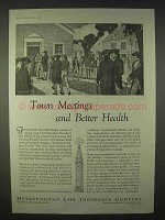 1935 Metropolitan Life Insurance Ad - Town Meetings