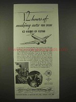 1935 TWA Airlines Ad - 12 Hours of Making Sure