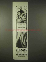 1935 Cinzano Vermouth Ad - First Choice for Cocktails