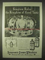 1935 Seagram's Crown Whiskey Ad - Kingdom of Taste