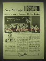 1935 Ipana Tooth Paste Ad - Gum Massage in Classroom