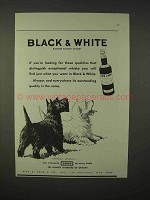1935 Black & White Scotch Whisky Ad