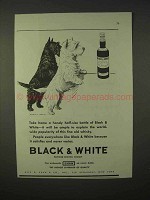 1935 Black & White Scotch Whisky Advertisement