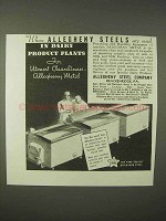 1935 Allegheny Steel Ad - In Dairy Product Plants