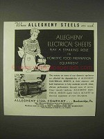 1935 Allegheny Steel Electrical Sheets Ad