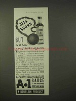 1935 A-1 Sauce Ad - Desk Bound