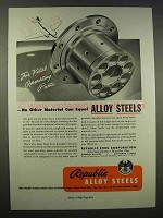1946 Republic Steel Ad - For Vital Operating Parts