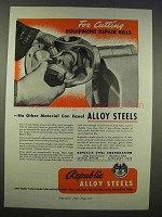 1946 Republic Steel Ad - Cutting Repair Bills