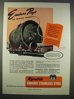 1946 Republic Steel Ad - Enduro Stainless Steel