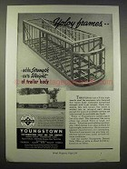 1946 Youngstown Yoloy Steel Ad - Adds Strength