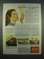 1946 Monsanto Santocel Ad - Speck of Sand in Public Eye