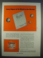 1946 Timken Alloy Steel Ad - Only Digest of Its Kind