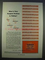 1946 Timken Alloy Steel Ad - Toughest Problem in Tubing