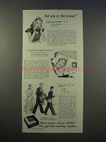 1946 Kotex Sanitary Napkins Ad - Are You In The Know?