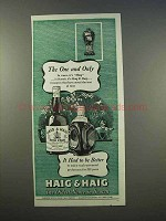 1946 Haig & Haig Scotch Ad - The One and Only