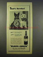 1946 Black & White Scotch Ad - That's Service!