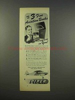 1946 Piper Cub Airplane Ad - 3 Fine Aviation Books