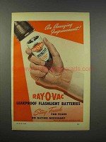 1946 Ray-o-Vac Leakproof Flashlight Batteries Ad