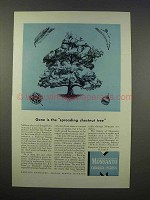 1946 Monsanto Chemicals Ad - Spreading Chestnut Tree