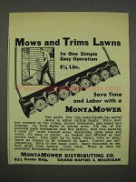 1946 MontaMower Lawn Mower Ad - Mows and Trims