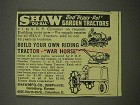 1946 Shaw Garden Tractors Ad - Du-All, Peppy-Pal