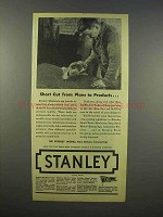 1945 Stanley Unishears Ad - Short Cut From Plans