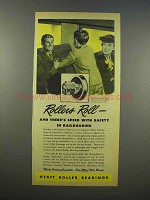 1945 Hyatt Roller Bearings Ad - Railroading