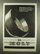 1945 Climax Molybdenum Ad - Cast Iron Brake Drums