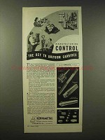1945 Kennametal Products Ad - Key to Uniform Carbides