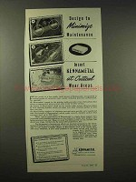 1945 Kennametal Carbide Ad - Minimize Maintenance