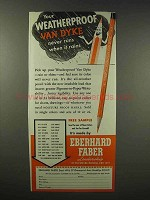 1945 Eberhard Faber Van Dyke Waterproof Pencil Ad