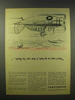 1945 Comptometer Ad - 6 Feet Over The Pacific