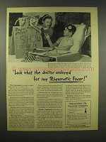 1945 Metropolitan Life Insurance Ad - Rheumatic Fever
