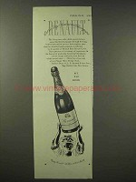 1945 Renault Extra Dry American Champagne Ad