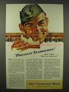 1945 Milwaukee Road Railroad Ad - Pheasant Sandwiches