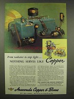1945 Anaconda Copper & Brass Ad - Nothing Serves Like