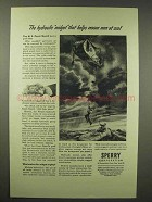 1945 Sperry Corporation Ad - Hydraulic Midget