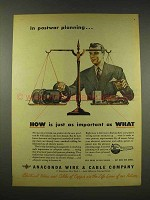 1944 Anaconda Wire & Cable Ad - In Postwar Planning