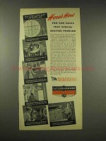 1944 Cutler-Hammer Electric Heat Ad - Solve Problem