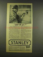 1944 Stanley Electric Drill Tool Ad - 399 to Go!