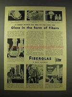 1944 Owens-Corning Fiberglas Ad - Glass Form of Fibers