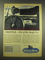 1944 The Seattle Times Newspaper Ad - The Pacific Era