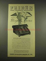 1944 Friden Automatic Calculator Ad - Winged Figures