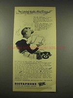 1944 Dictaphone Machine Ad - Am I Seeing Double?