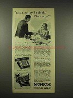 1944 Monroe MA 7-W Calculator, Accounting Machine Ad