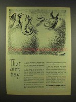 1944 Comptometer Machine Ad - That Ain't Hay